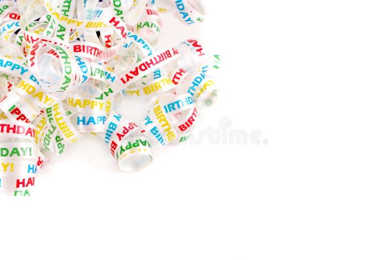 Happy birthday ribbon stock images