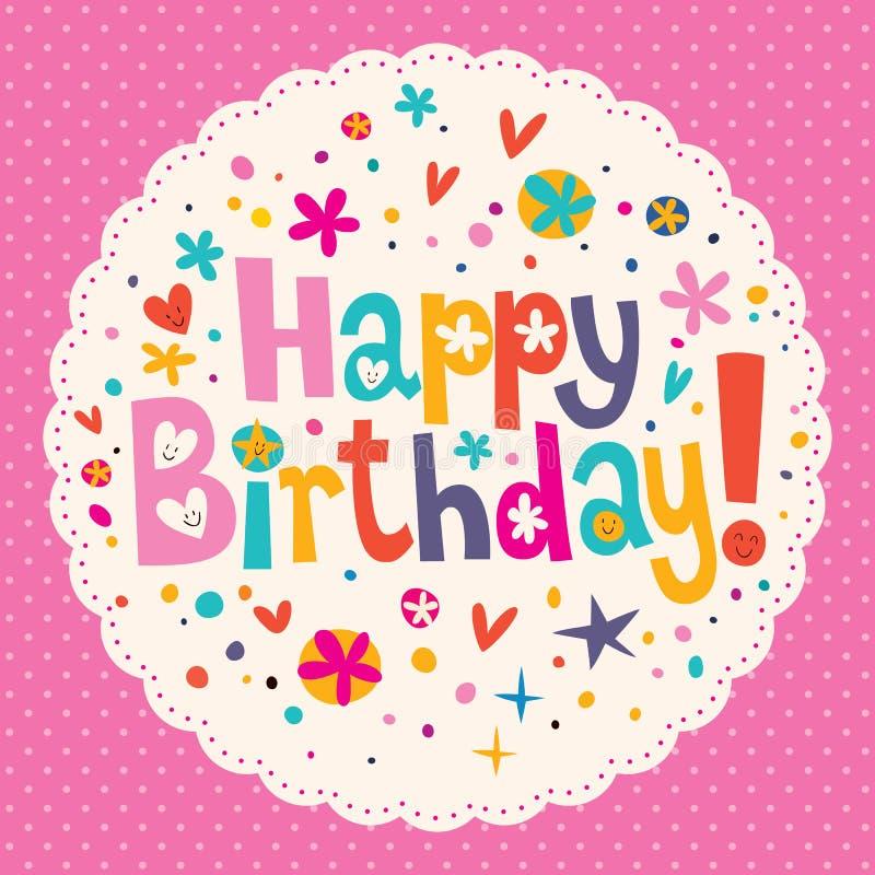 Download Happy Birthday stock vector. Image of happy, congratulation - 32689924