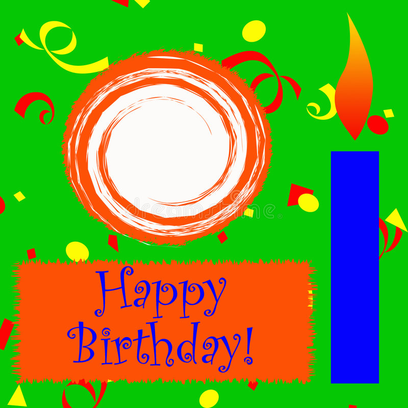 Happy Birthday Scrapbook Sheet stock images