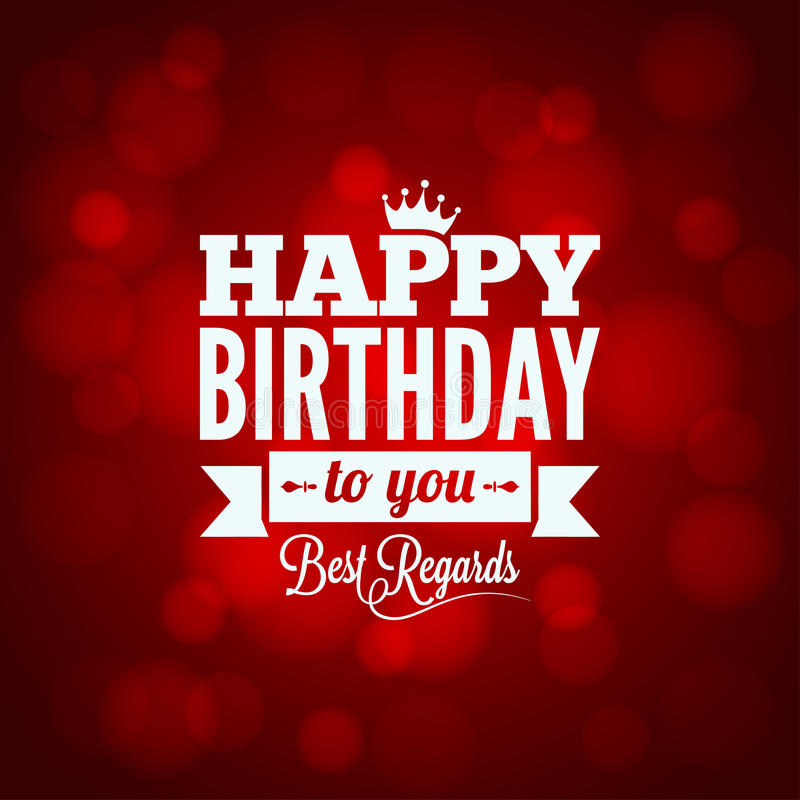 happy birthday sign design background stock illustration
