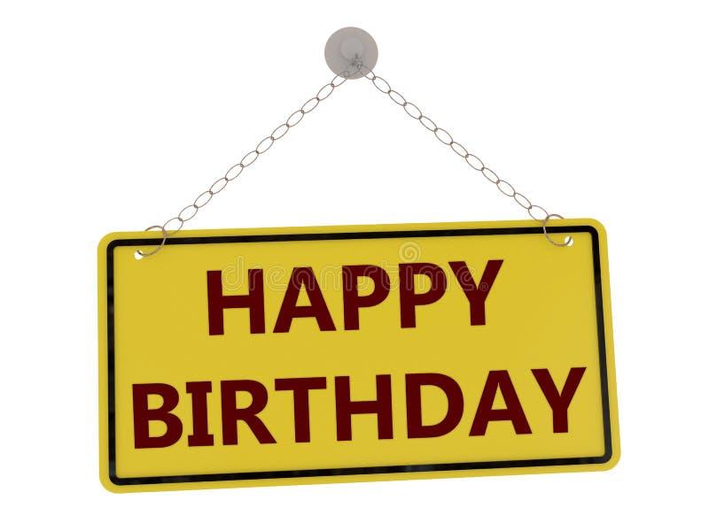 Happy birthday sign stock illustration
