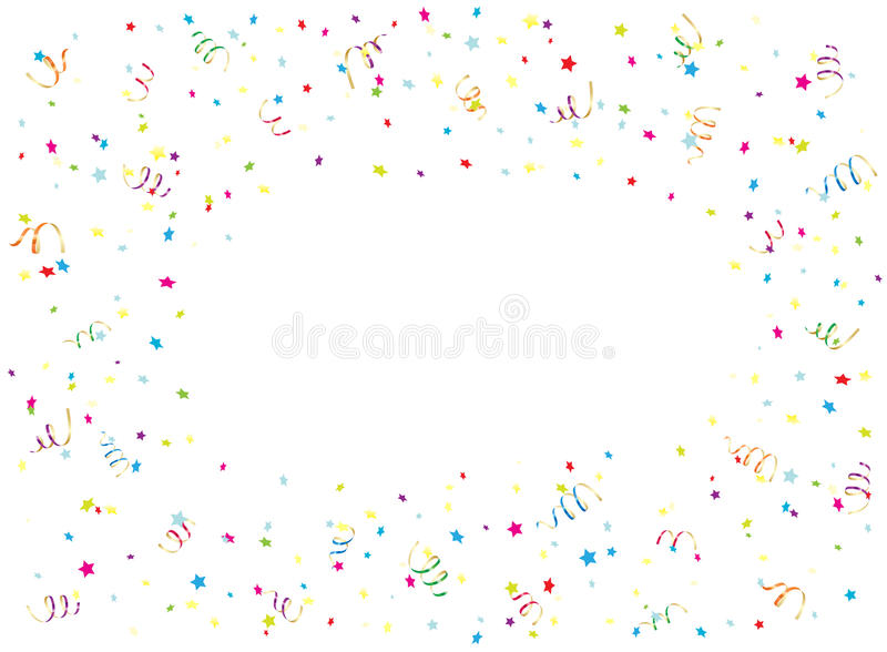download happy birthday streamer and confetti on white background stock vector illustration of funny