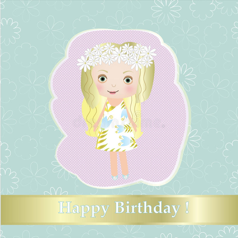 Download Happy Birthday - Sweet Small Fairy Girl With Flower  Illustration Stock Illustration - Image: 28955070