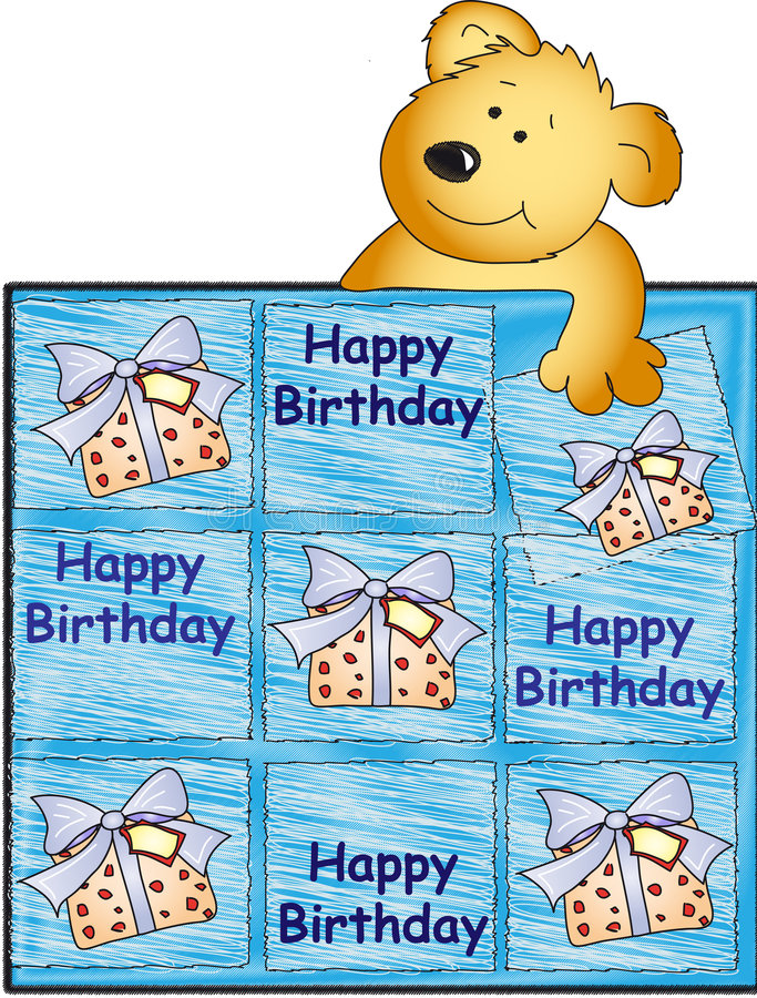 Download Happy Birthday With Teddy Bear Stock Illustration - Image: 7023990