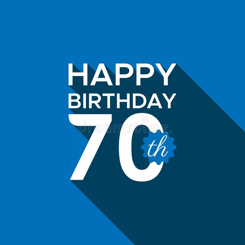 Happy birthday 70th logo vector stock illustration