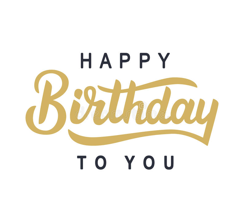 Happy Birthday to You typography poster vector illustration