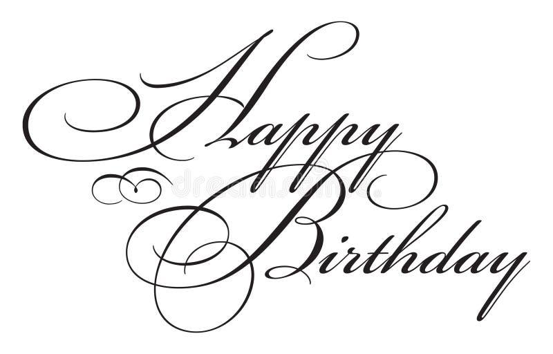 Happy Birthday Type stock illustration
