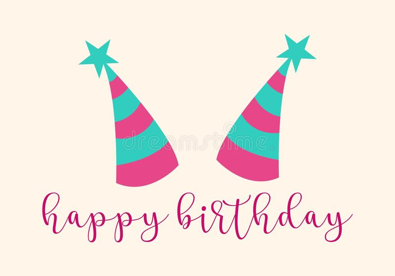 Happy Birthday Typographic Design For Greeting Cards Print And