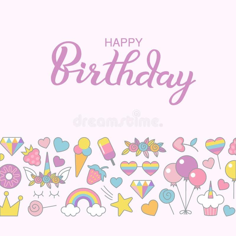 Happy Birthday Typographic Vector Design For Greeting Birthday