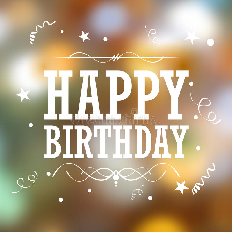 Happy Birthday Typography Background stock illustration