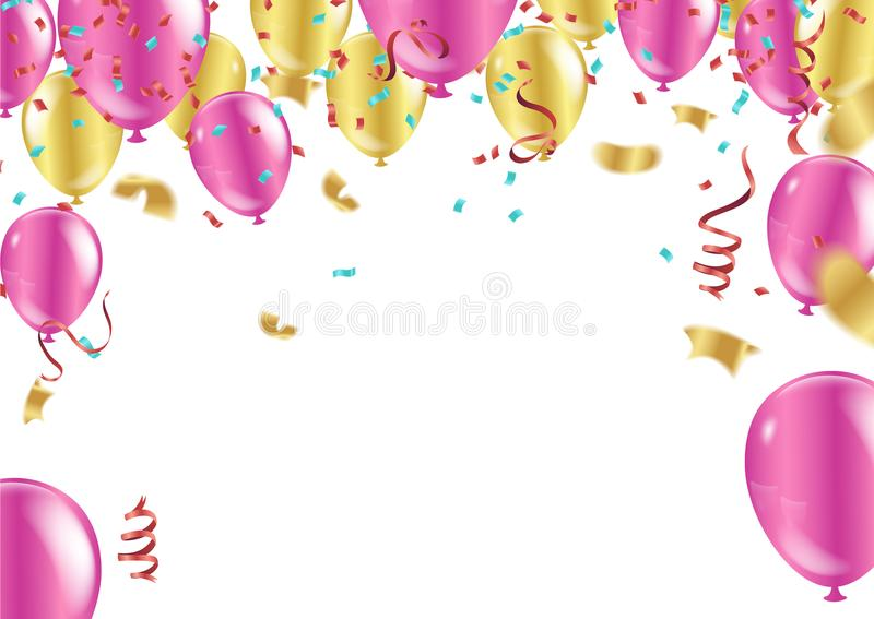 Happy Birthday typography vector design for greeting cards and p vector illustration