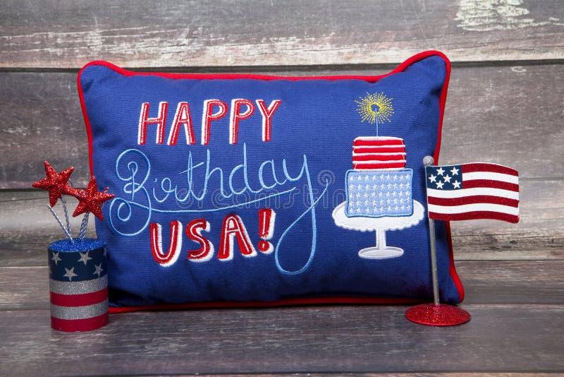 Happy Birthday U.S.A. stock image