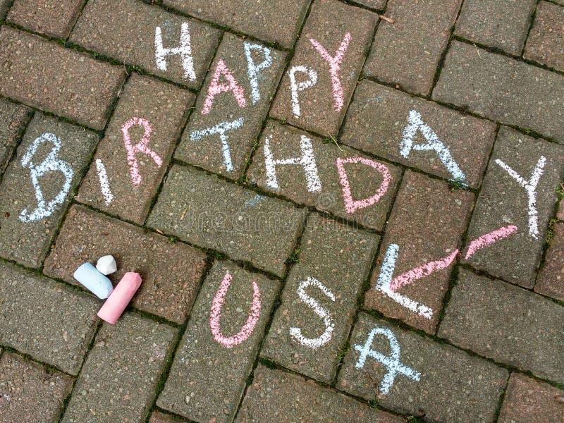 Happy 4th of July, Happy Birthday USA stock photography