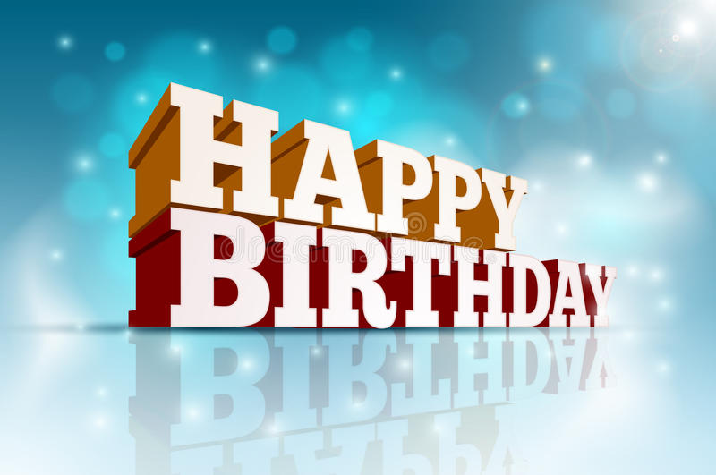 Happy Birthday. Vector 3d Happy Birthday message text. Elements are layered separately in vector file