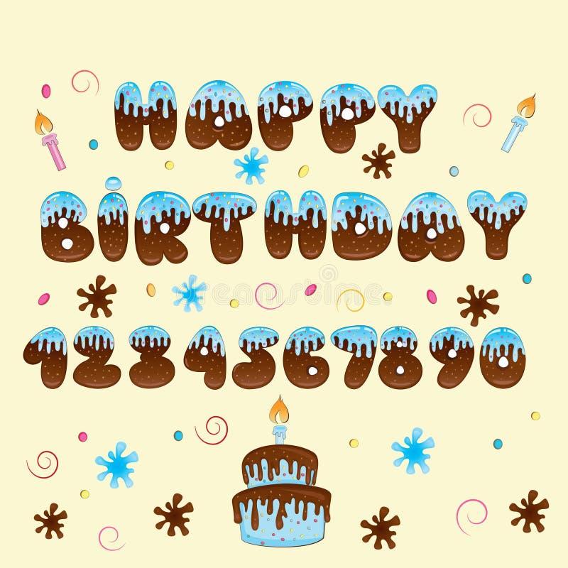 Happy Birthday Vector Hand Lettering Stock Photography
