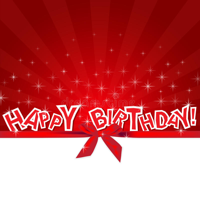 happy birthday red card stock vector illustration of