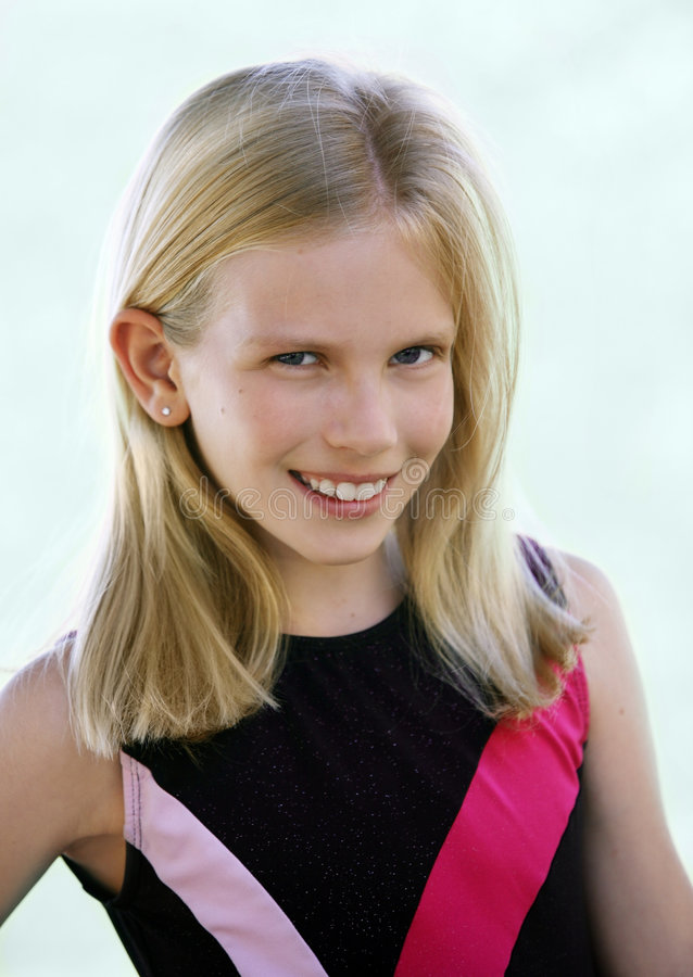 Download Happy blond girl smile stock photo. Image of youth, gymnast - 3546480