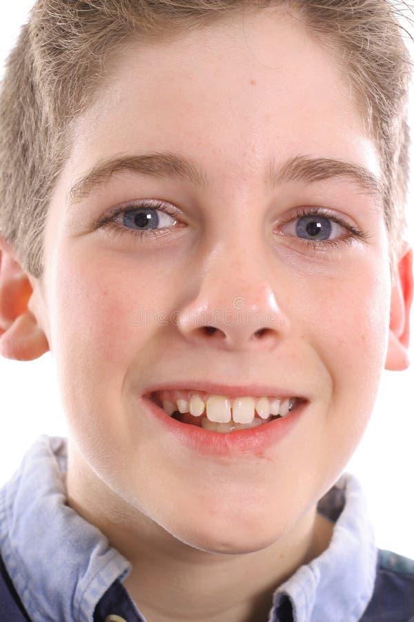 Download Happy Blue Eyed Boy Headshot Stock Image - Image of cute, head: 3665181