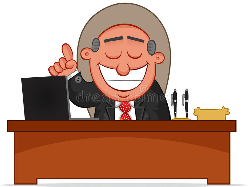 Happy Boss With An Idea Royalty Free Stock Image