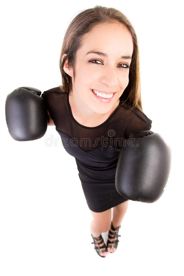 Download Happy Boxing Business Woman. Stock Photo - Image: 26489160