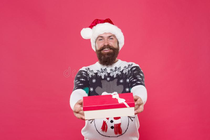 Happy boxing day. Happy santa prepare gift for boxing day. Keep celebrating with Boxing day. Giving of gift. Giveaway stock images