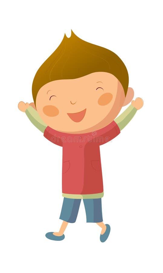Happy boy vector illustration