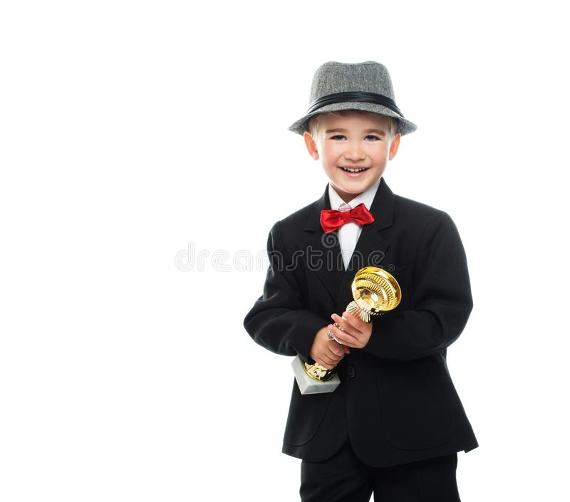 Download Happy boy in black suit stock photo. Image of cute, happy - 34644676