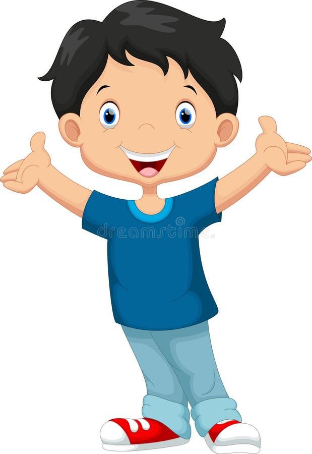 Happy boy cartoon vector illustration