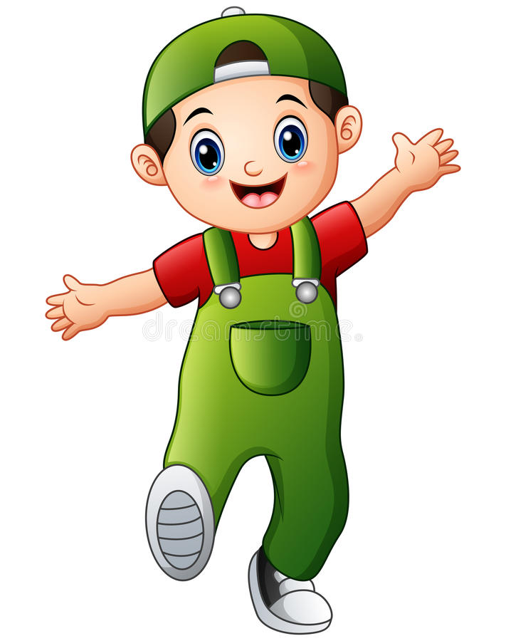 Happy boy cartoon. Illustration of Happy boy cartoon royalty free illustration