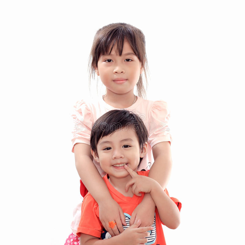 Download Happy boy and girl stock photo. Image of childhood, child - 24990016