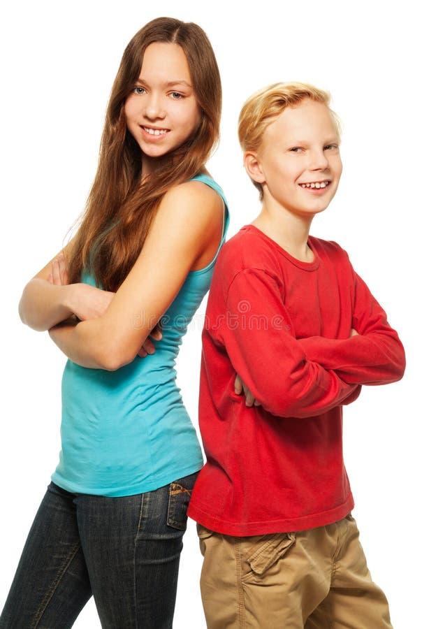 Download Happy boy and girl stock image. Image of joyful, beautiful - 28403661