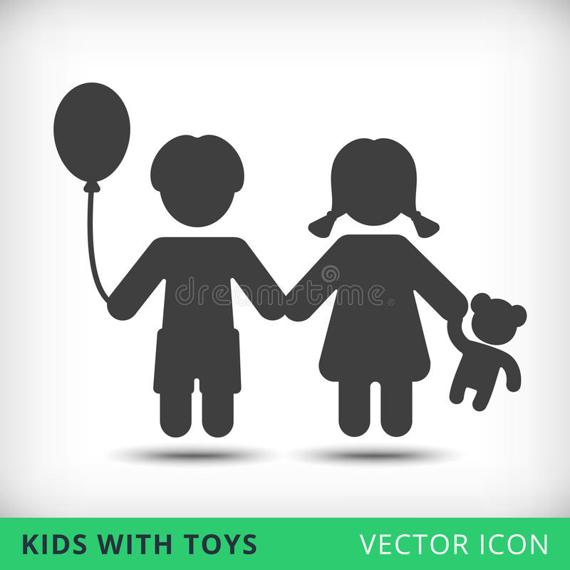 Happy boy and girl icon vector illustration