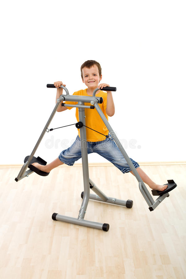 Download Happy boy in the gym stock photo. Image of playing, health - 15717268