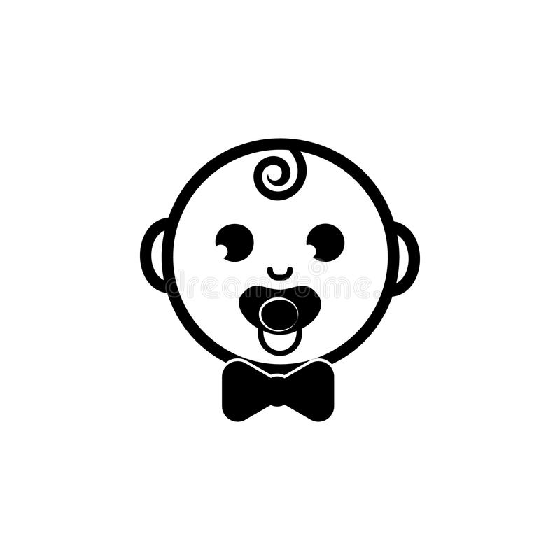 Happy boy icon. Baby element icon. Premium quality graphic design icon. Signs, outline symbols collection icon for websites, web d vector illustration