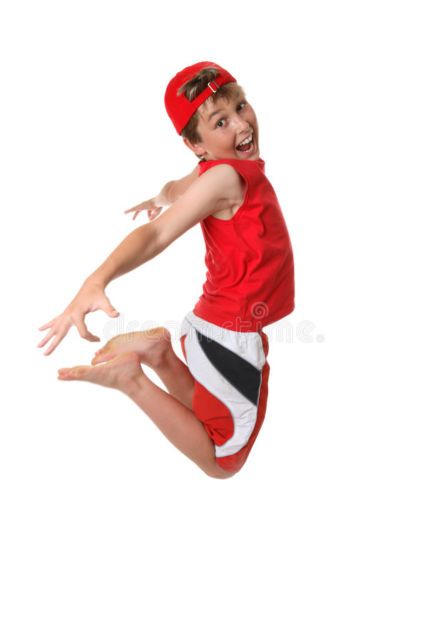 Free Happy Boy Mid Jump Royalty Free Stock Images - 3821509