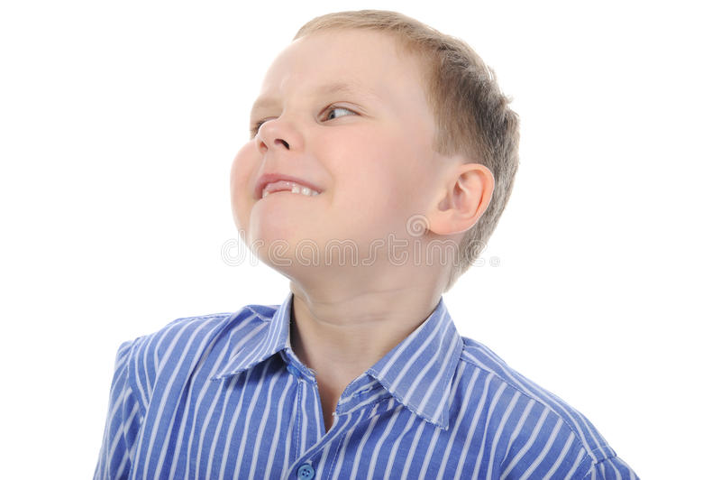 Happy boy with no front teeth stock photos