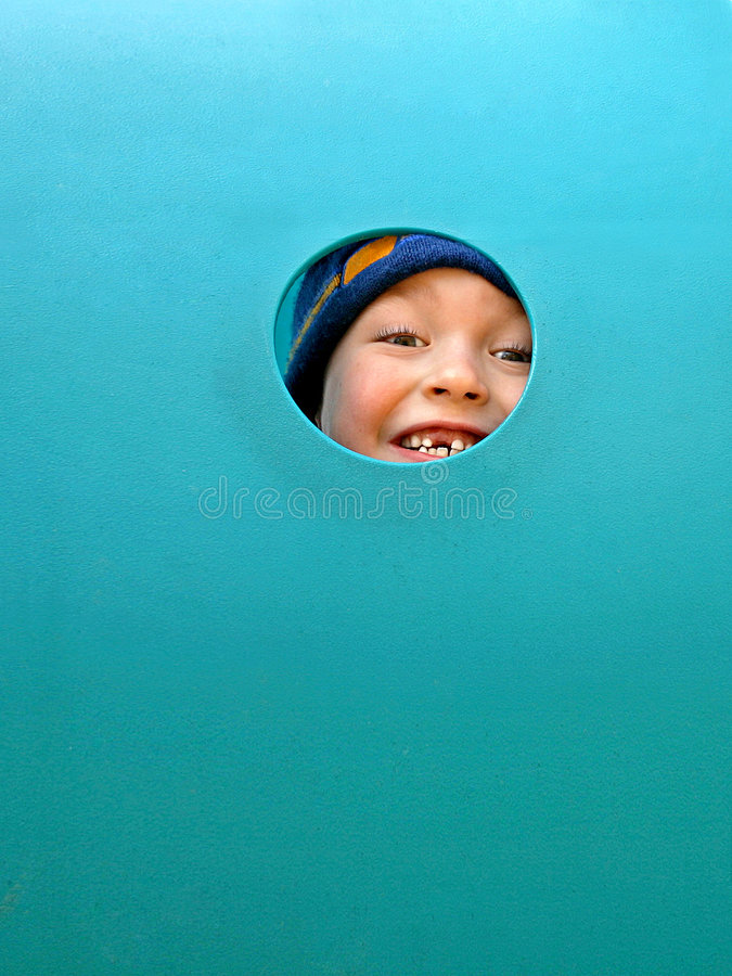 Happy boy with no milk tooth royalty free stock photo