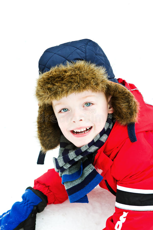 Download Happy boy in the snow stock image. Image of english, snowy - 23533973