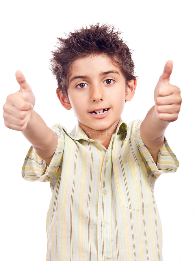 Download Happy boy with thumbs up stock image. Image of close - 20937329