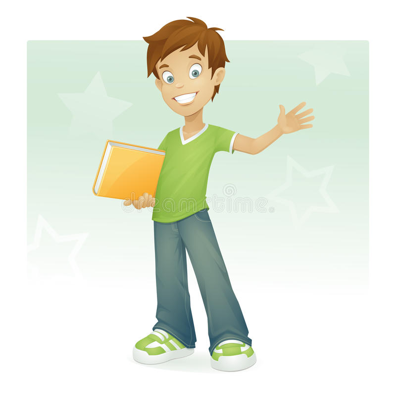 Download Happy boy waving stock vector. Illustration of learning - 10885489