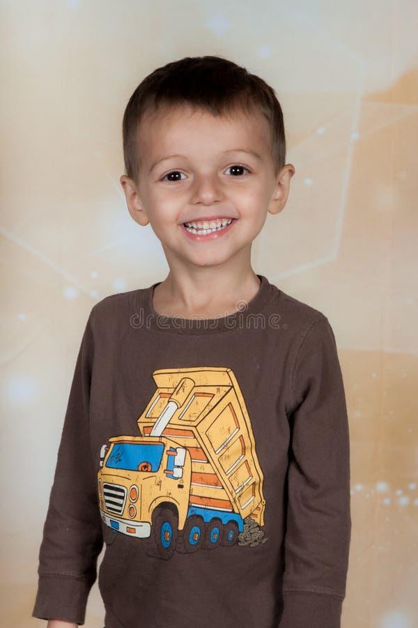 Download Happy boy stock image. Image of caucasian, child, truck - 47677163