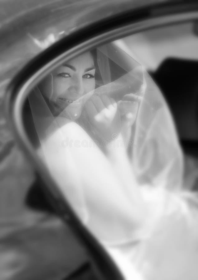 Free Happy Bride Arriving At Wedding Royalty Free Stock Photos - 34614948