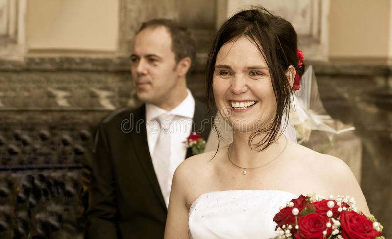 Download Happy bride vintage look stock photo. Image of tears - 20874232