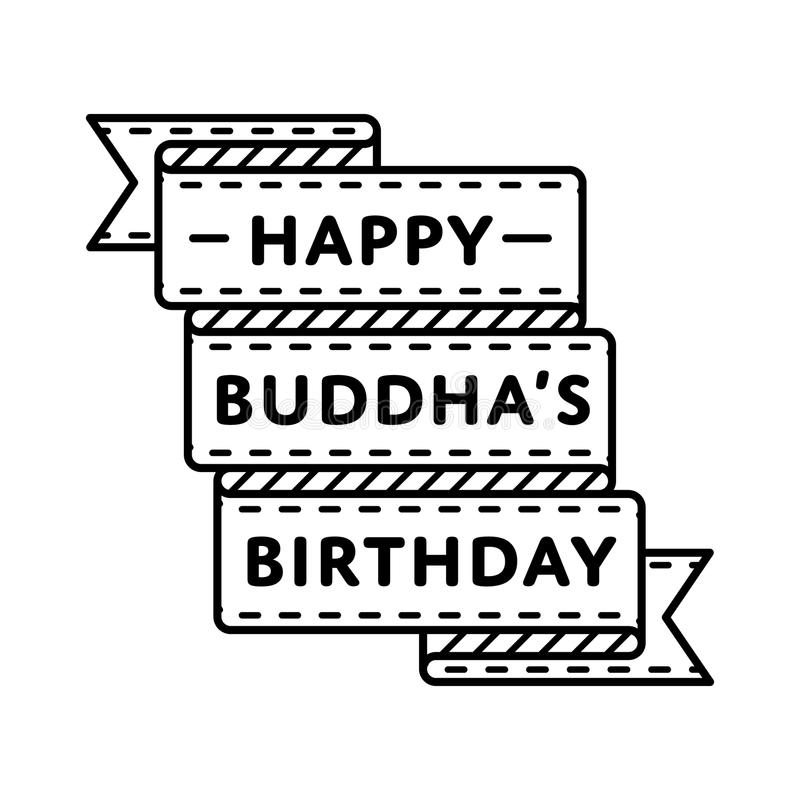 Happy buddha birthday greeting emblem stock vector illustration of download happy buddha birthday greeting emblem stock vector illustration of congratulation holy 85386520 m4hsunfo