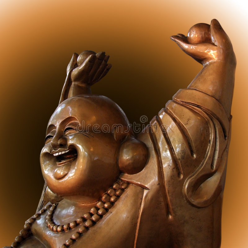 Happy Buddha figurine royalty free stock images
