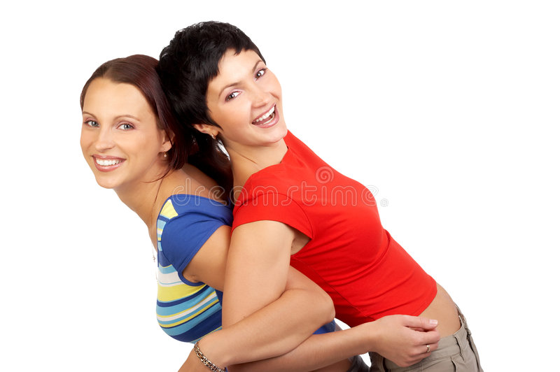 Happy buddies laughing royalty free stock photos