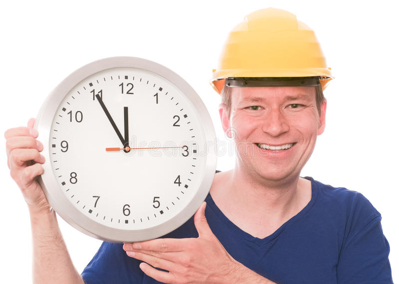 Happy building time royalty free stock photo