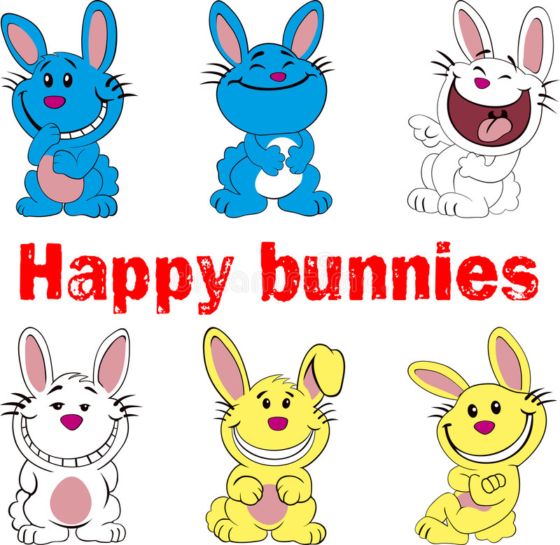 Happy bunnies royalty free stock image
