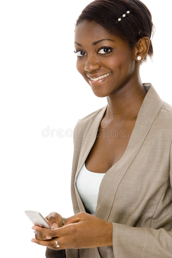 Download Happy Business stock photo. Image of college, african, cellphone - 631268