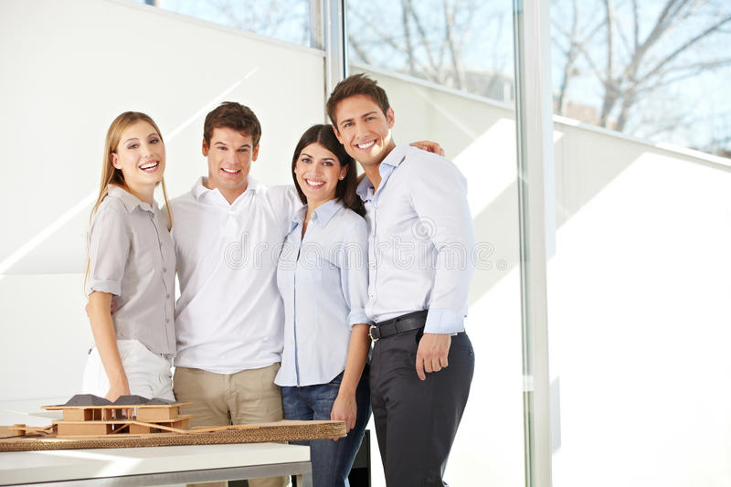 Happy business architects team royalty free stock photos